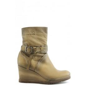 Дамски боти - естествена кожа - жълти - EO-3016