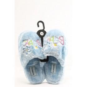 Детски чехли - висококачествен текстилен материал - сини - EO-2938