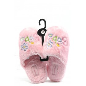 Детски чехли - висококачествен текстилен материал - розови - EO-2939