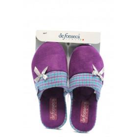 Дамски пантофи - висококачествен текстилен материал - лилави - EO-4848