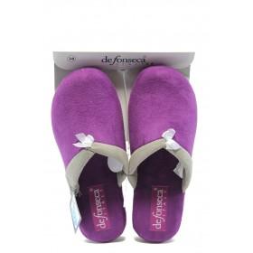 Дамски пантофи - висококачествен текстилен материал - лилави - EO-4869