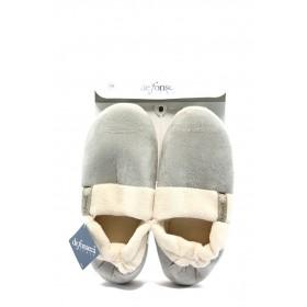Дамски пантофи - висококачествен текстилен материал - сиви - EO-4873