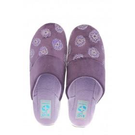 Дамски пантофи - висококачествен текстилен материал - лилави - EO-4871