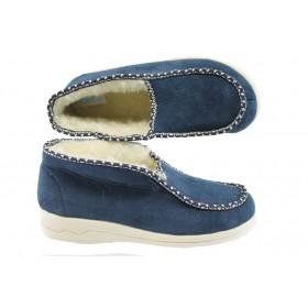Дамски пантофи - висококачествен текстилен материал - сини - EO-5222