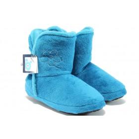 Дамски пантофи - висококачествен текстилен материал - сини - EO-5294
