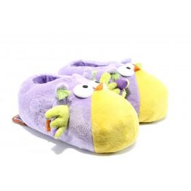 Дамски пантофи - висококачествен текстилен материал - лилави - EO-5296