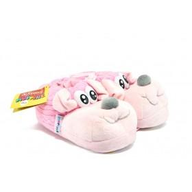 Детски чехли - висококачествен текстилен материал - розови - EO-7489