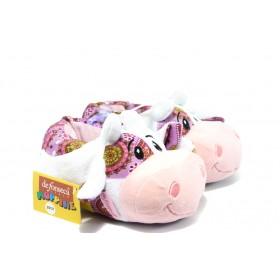 Детски обувки - висококачествен текстилен материал - розови - EO-5304