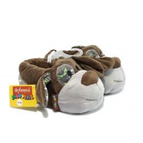 Детски обувки - висококачествен текстилен материал - кафяви - EO-5307