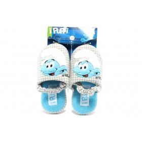 Детски обувки - висококачествен текстилен материал - светлосин - EO-5306