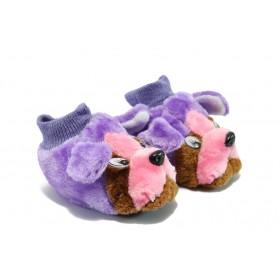 Детски обувки - висококачествен текстилен материал - лилави - EO-5610
