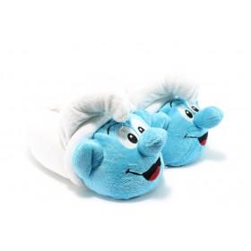 Детски чехли - висококачествен текстилен материал - сини - EO-7487