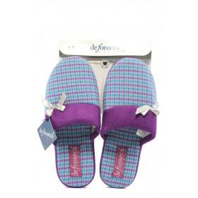 Дамски пантофи - висококачествен текстилен материал - лилави - EO-5644