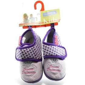 Детски обувки - висококачествен текстилен материал - лилави - EO-1973