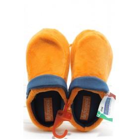 Дамски чехли - висококачествен текстилен материал - оранжеви - EO-7485