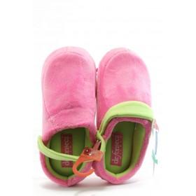 Дамски чехли - висококачествен текстилен материал - розови - EO-7484