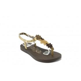 Дамски сандали - висококачествен pvc материал - кафяви - EO-4455