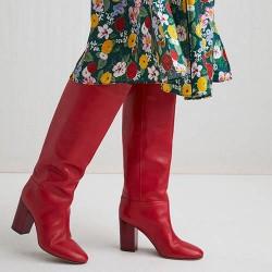 Червени ботуши online