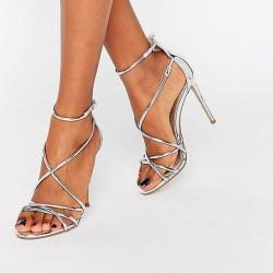 Сребърни сандали