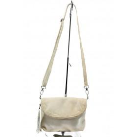Дамска чанта - естествена кожа - бежови - EO-4478