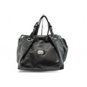 Дамска чанта - висококачествена еко-кожа - черни - EO-4550