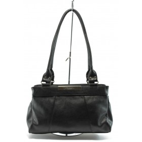 Дамска чанта - висококачествена еко-кожа - черни - EO-5034