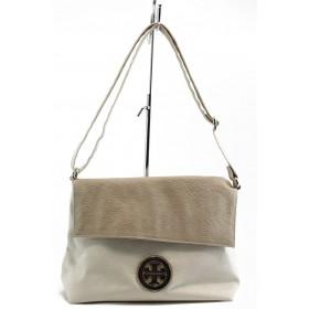 Дамска чанта - висококачествена еко-кожа - бежови - EO-2651