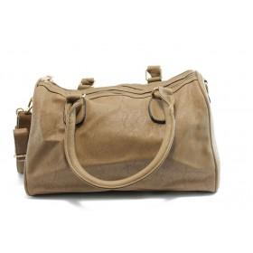 Дамска чанта - висококачествена еко-кожа - светлокафяв - EO-3202