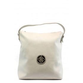 Дамска чанта - висококачествена еко-кожа - бежови - EO-3806