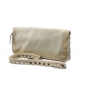 Дамска чанта - естествена кожа - бежови - EO-4345