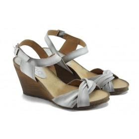 Дамски чехли - естествена кожа - бели - EO-4276
