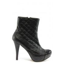 Дамски боти - висококачествена еко-кожа - черни - EO-4829