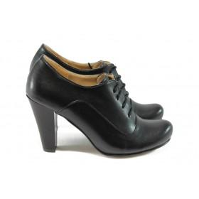 Дамски обувки на висок ток - еко-кожа - черни - EO-5082