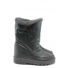 Дамски ботуши - висококачествена еко-кожа - сиви - EO-5666