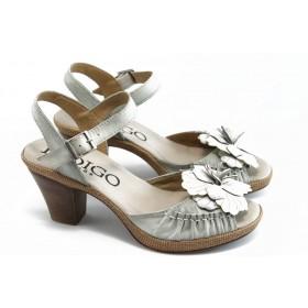 Дамски сандали - естествена кожа - бели - EO-3090