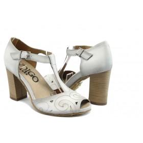 Дамски сандали - естествена кожа - бели - EO-3091