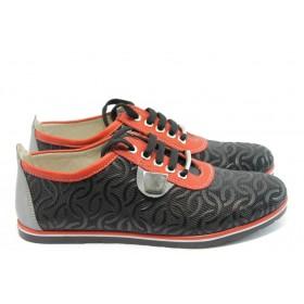 Равни дамски обувки - естествена кожа - черни - EO-3514
