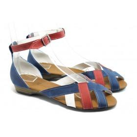 Дамски сандали - еко-кожа - сини - EO-3729