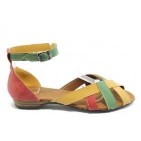 Дамски сандали - еко-кожа - червени - EO-3732