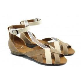 Дамски сандали - еко-кожа - бежови - EO-3733