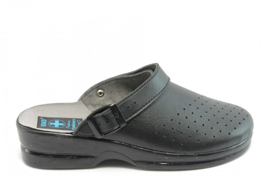 Дамски чехли - висококачествена еко-кожа - черни - EO-8667
