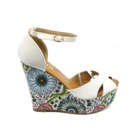 Дамски сандали - еко-кожа - бели - EO-3813