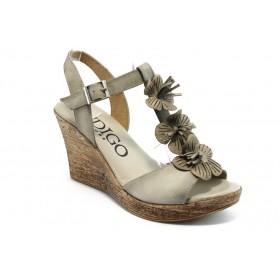 Дамски сандали - естествена кожа - бежови - EO-4095