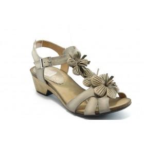 Дамски сандали - естествена кожа - бежови - EO-4132