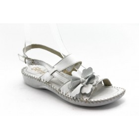 Дамски сандали - естествена кожа - бели - EO-4271 3