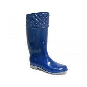 Детски ботуши - висококачествен pvc материал - сини - EO-5389
