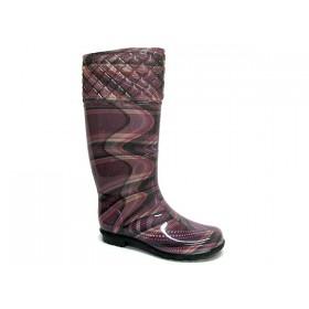 Дамски ботуши - висококачествен pvc материал - лилави - EO-5380