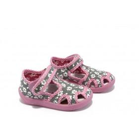 Детски обувки - висококачествен текстилен материал - сиви - EO-4399