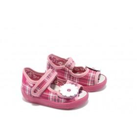 Детски сандали - висококачествен текстилен материал - розови - EO-4400