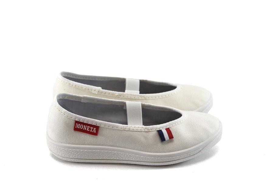 Детски обувки - висококачествен еко-велур - бели - EO-4472